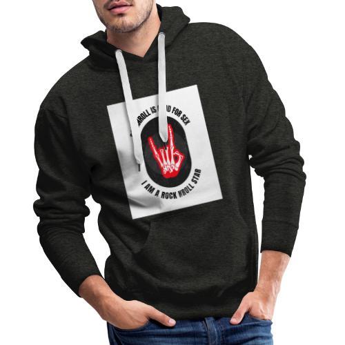 Rocknroll is Good For Sex - Sweat-shirt à capuche Premium pour hommes