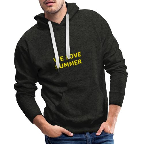 we love summer - Männer Premium Hoodie