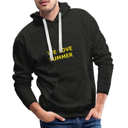 we love summer - Männer Premium Hoodie