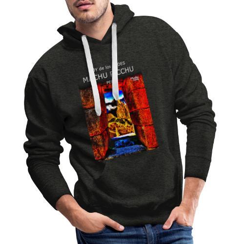 SOY de los ANDES - Machu Picchu II - Sweat-shirt à capuche Premium pour hommes