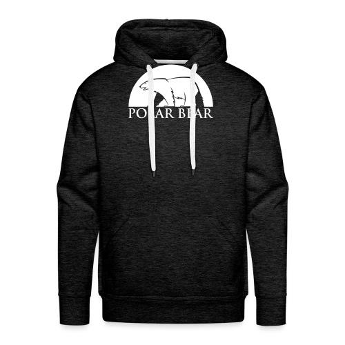 Polar Bear blanc - Sweat-shirt à capuche Premium pour hommes