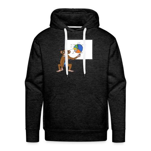 Aap houdt presentatie - Mannen Premium hoodie