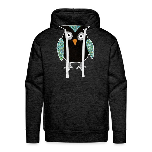 Collage mosaic owl - Men's Premium Hoodie