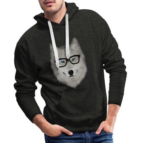 wild animal with glasses V02 - Sudadera con capucha premium para hombre