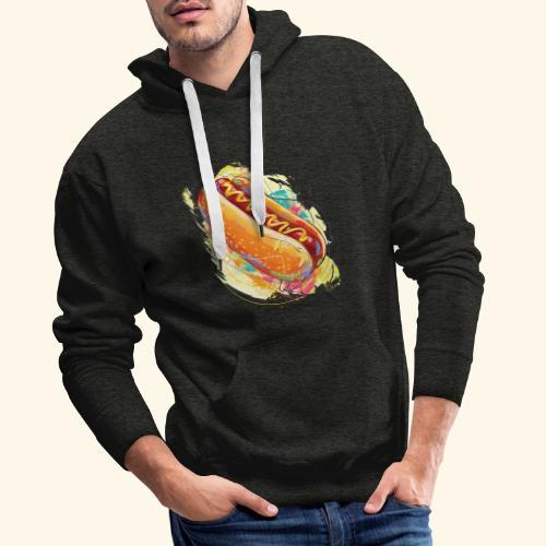 Hot Dog - Sudadera con capucha premium para hombre