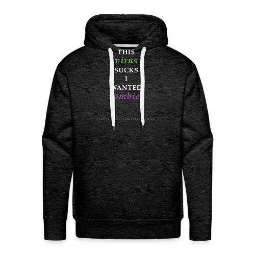 Corona Virus Zombie Lockdown 2020 - Mannen Premium hoodie