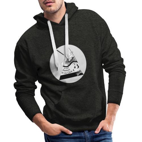 Logo BN - Felpa con cappuccio premium da uomo