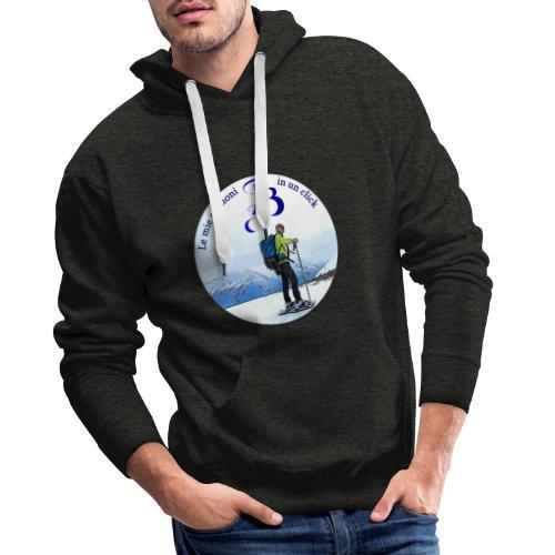Logo cartone ciaspole - Felpa con cappuccio premium da uomo