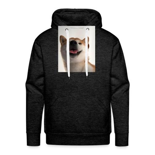 miły pies - Bluza męska Premium z kapturem