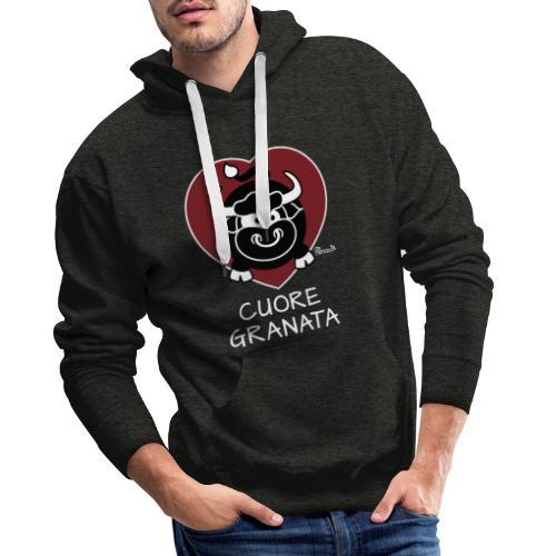 Torino Cuore Granata, Football Club, Calcio Italia - Sweat-shirt à capuche Premium pour hommes