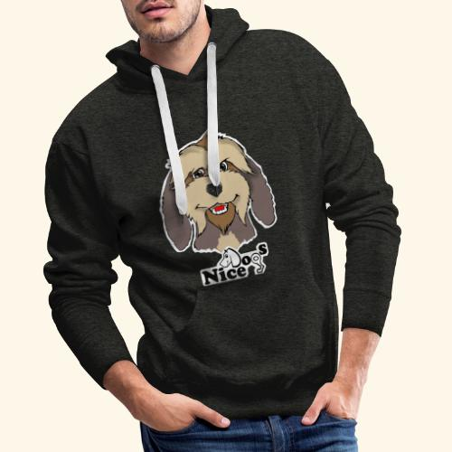 Nice Dogs Pastore Catalano - Felpa con cappuccio premium da uomo