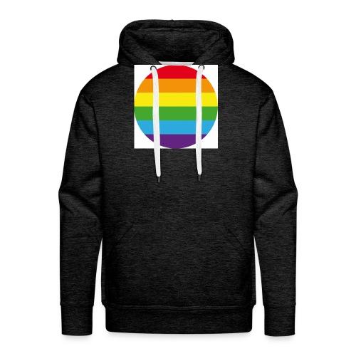 Pride Rainbow Circle - Men's Premium Hoodie