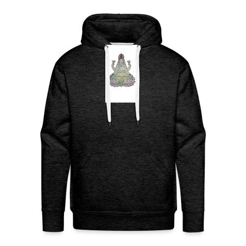 lotus - Sudadera con capucha premium para hombre