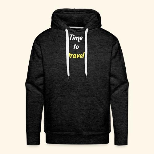 Time to travel - Sweat-shirt à capuche Premium pour hommes