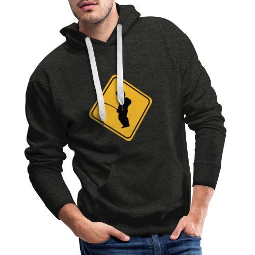 Manneken Pis sign - Sweat-shirt à capuche Premium pour hommes