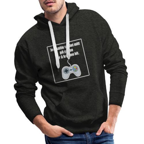 morsom t-skjorte til gamer - Premium hettegenser for menn