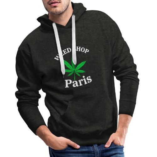 weed shop paris - Sweat-shirt à capuche Premium pour hommes
