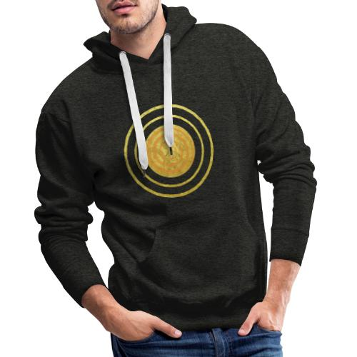Glückssymbol Sonne - positive Schwingung - Spirale - Männer Premium Hoodie
