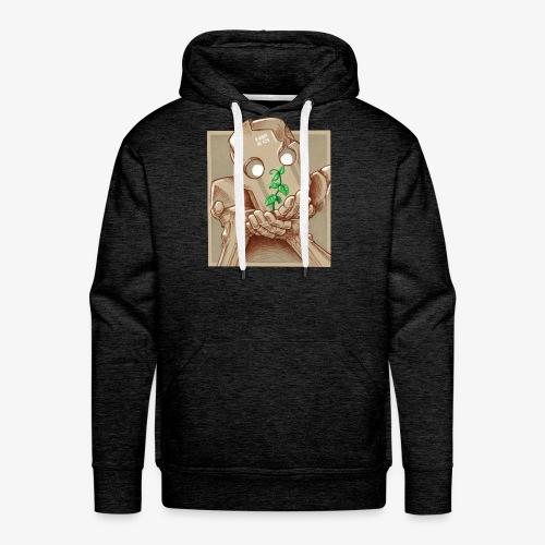 robot plant leaf leaves war - Sweat-shirt à capuche Premium pour hommes