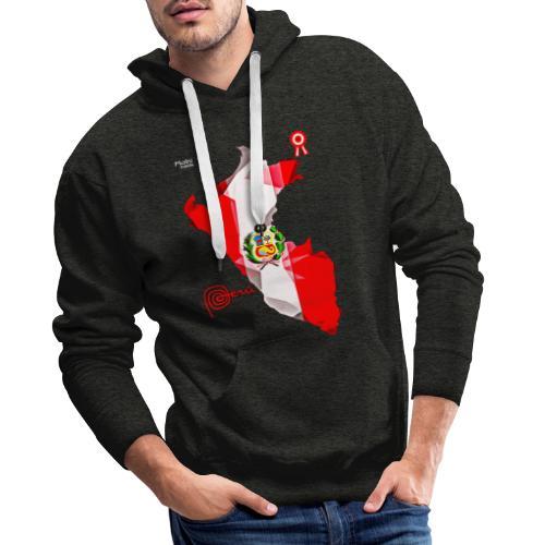 Mapa del Peru, Bandera y Escarapela - Sweat-shirt à capuche Premium pour hommes