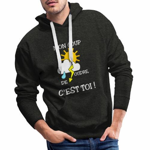 Mon coup de foudre - Sweat-shirt à capuche Premium pour hommes