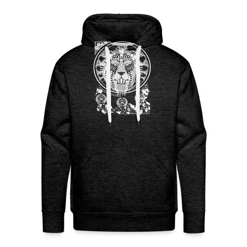 Lion Wit 1 1 - Mannen Premium hoodie