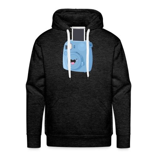 Appareil photo instantané bleu - Sweat-shirt à capuche Premium pour hommes