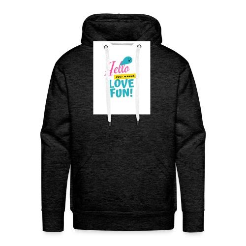 hello love fun - Sweat-shirt à capuche Premium pour hommes