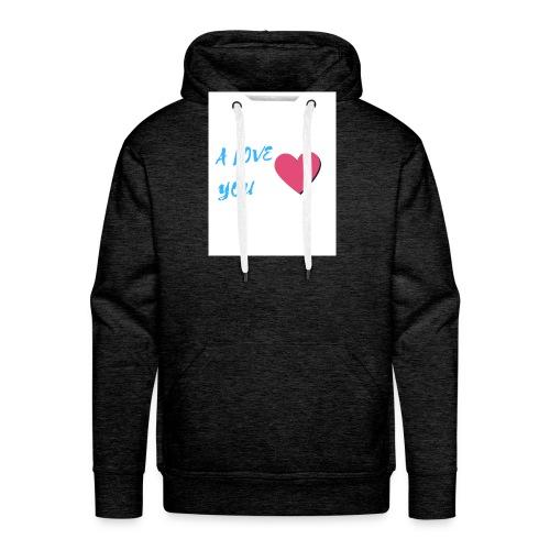 A LOVE YOU BLEU - Sweat-shirt à capuche Premium pour hommes