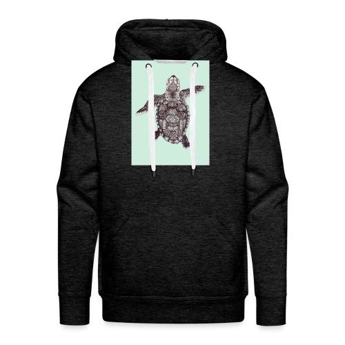 tortue en transparence - Sweat-shirt à capuche Premium pour hommes