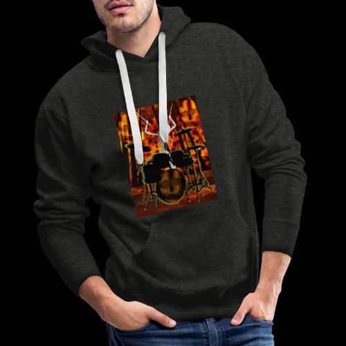 LE SQUELETTE BATTEUR - Sweat-shirt à capuche Premium pour hommes