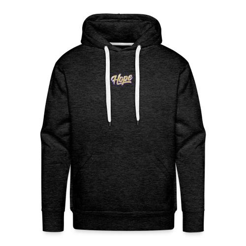 Hope lettering - Sudadera con capucha premium para hombre