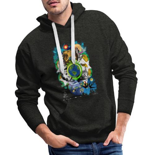 Terre Mère Nature -by- T-shirt chic et choc - Sweat-shirt à capuche Premium pour hommes