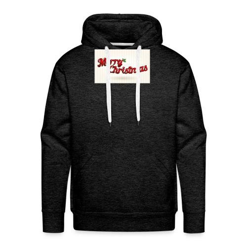 merry christmas design - Mannen Premium hoodie
