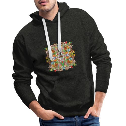 The Christmas crowd is having a great time - Men's Premium Hoodie