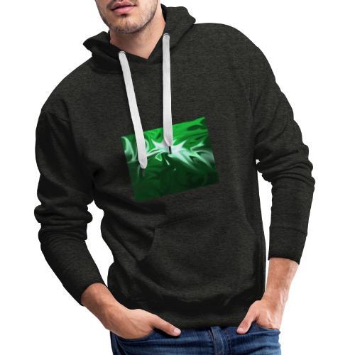 green abstract - Men's Premium Hoodie