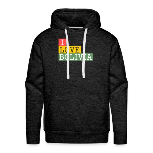 I Love Bolivia Tricolour - Sudadera con capucha premium para hombre