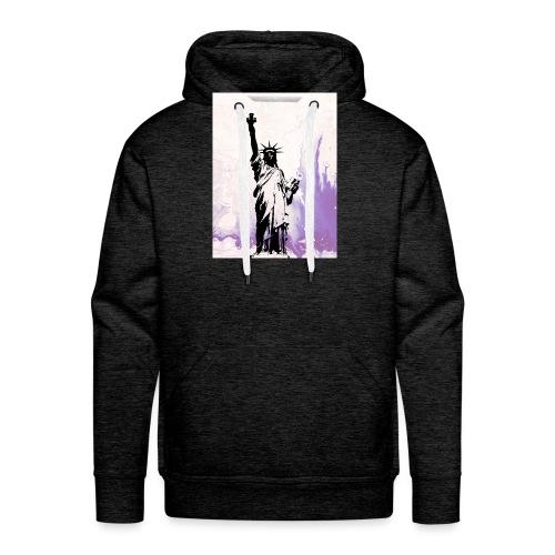 Purple liberty - Sudadera con capucha premium para hombre