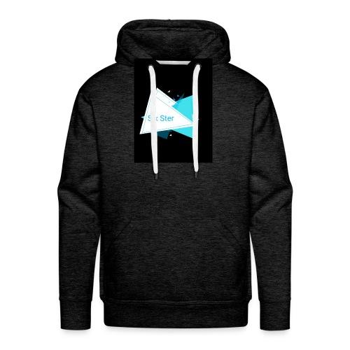 SixSter trujkątny wzór - Bluza męska Premium z kapturem