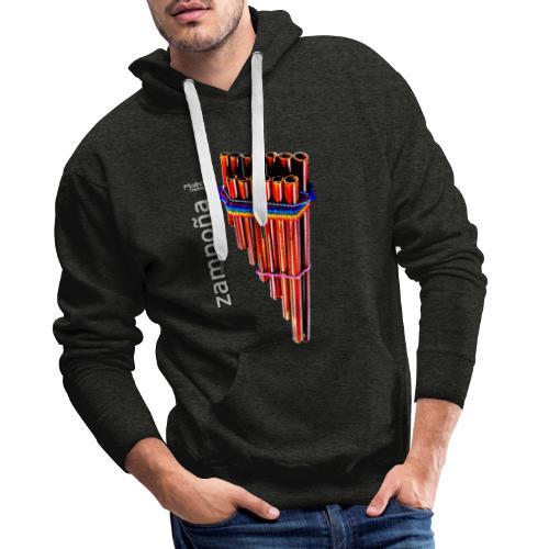 Zampoña - Sudadera con capucha premium para hombre
