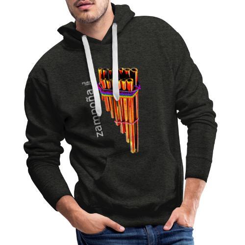 Zampoña clara - Sweat-shirt à capuche Premium pour hommes