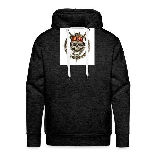 viking skull runes - Sweat-shirt à capuche Premium pour hommes