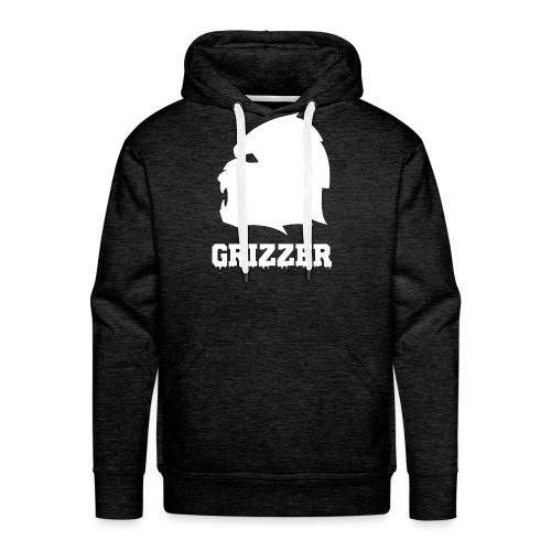GRIZZER BLANC - Sweat-shirt à capuche Premium pour hommes