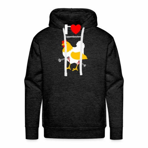 I love kippenbouten - Mannen Premium hoodie