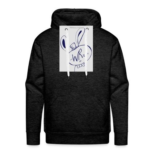 WhiteRabbitTees logo - Men's Premium Hoodie