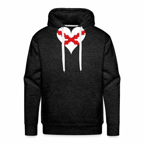 Corazón Borgoña - Sudadera con capucha premium para hombre