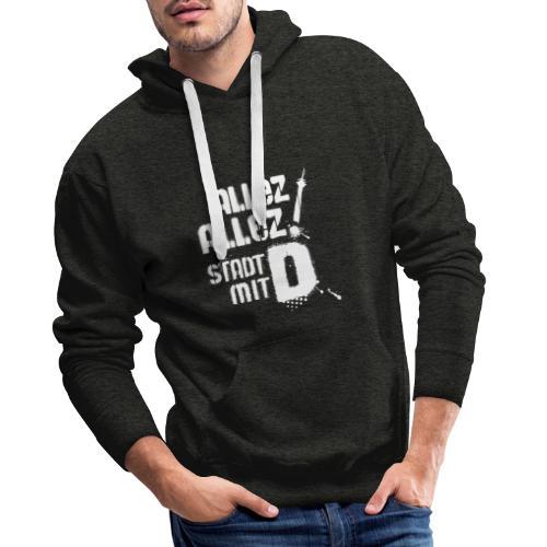 Dickes D 5 3 white - Männer Premium Hoodie