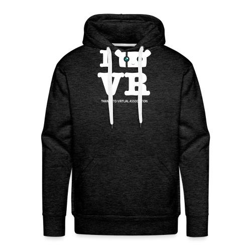 i-love-vr-plus-texte - Sweat-shirt à capuche Premium pour hommes