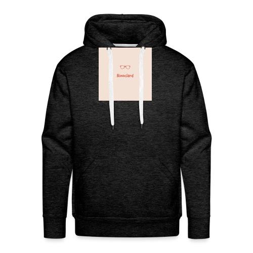 Binoclard beige rose - Sweat-shirt à capuche Premium pour hommes