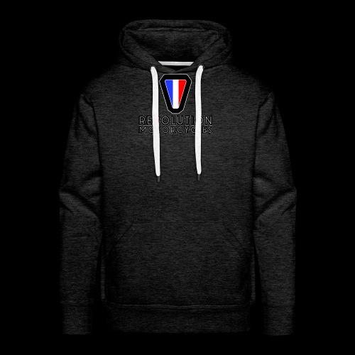 V and Text - Sweat-shirt à capuche Premium pour hommes